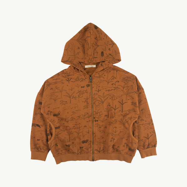 'the story' glazed ginger hoodie