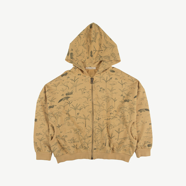 'the story' ocre hoodie