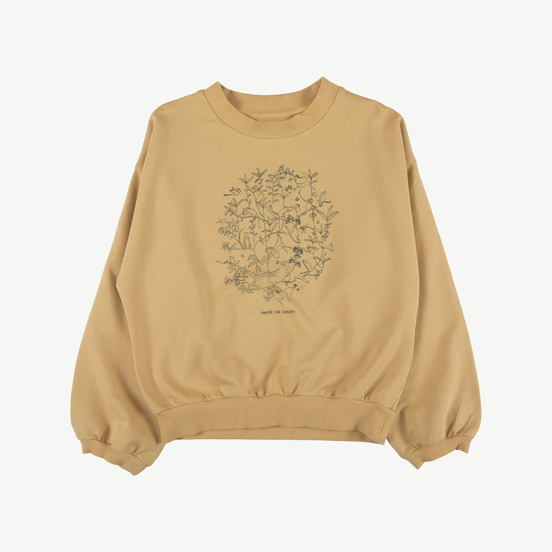 'under the canopy' ocre sweatshirt