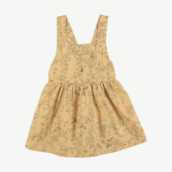 'the canopy' ochre woven dress