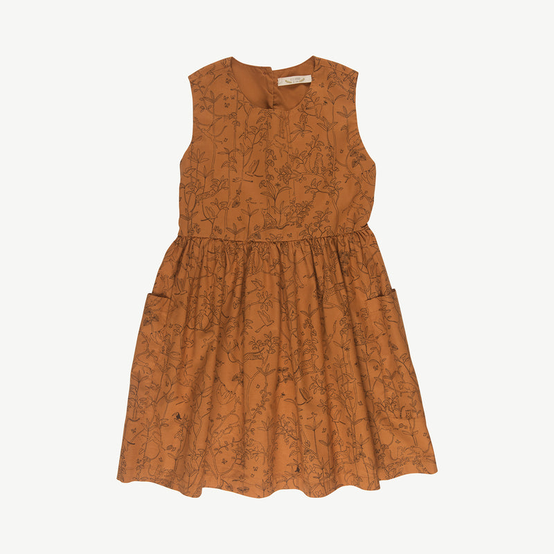'the canopy' glazed ginger pockets dress