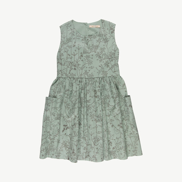 'the canopy' jadeite pockets dress