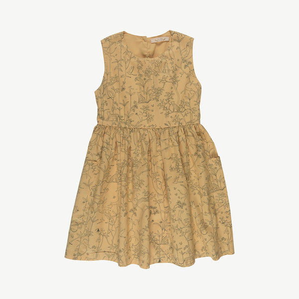 'the canopy' ocre pockets dress