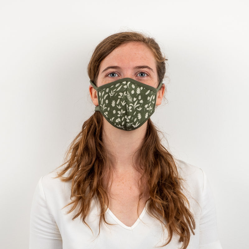 'rainforest foliage' chive face mask