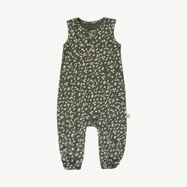 'rainforest foliage' chive tank jumpsuit