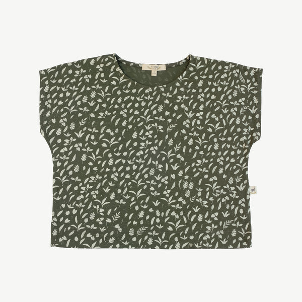 'rainforest foliage' chive oversized t-shirt