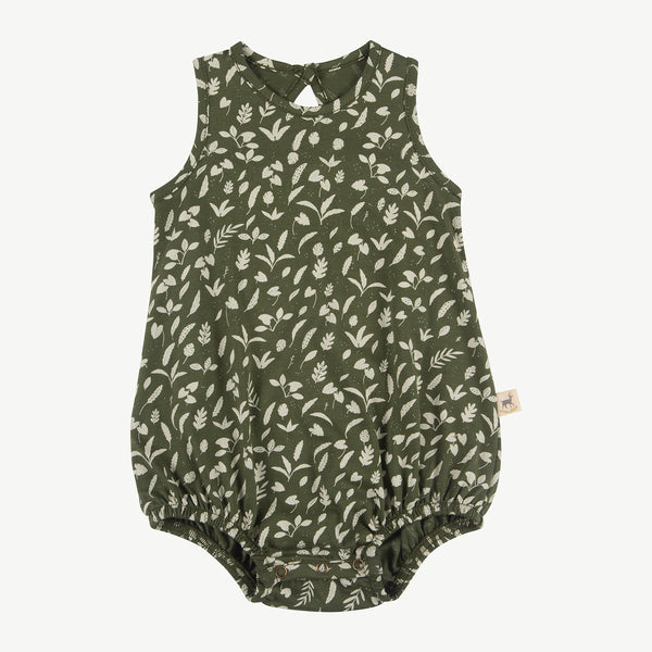 'rainforest foliage' chive baggy onesie
