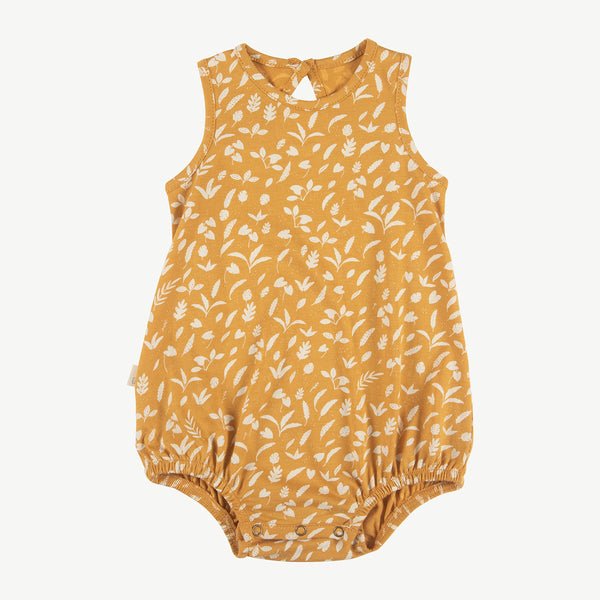 'rainforest foliage' spruce yellow baggy onesie