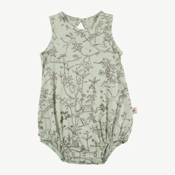 'the canopy' almost aqua baggy onesie