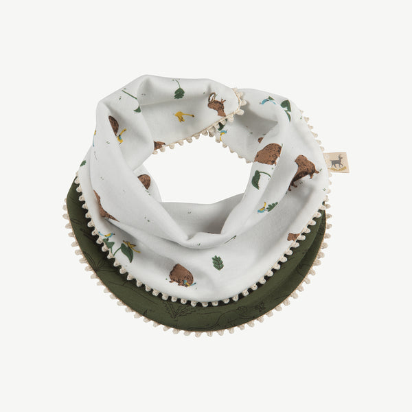 'pally capybara' eco-white reversible bandana