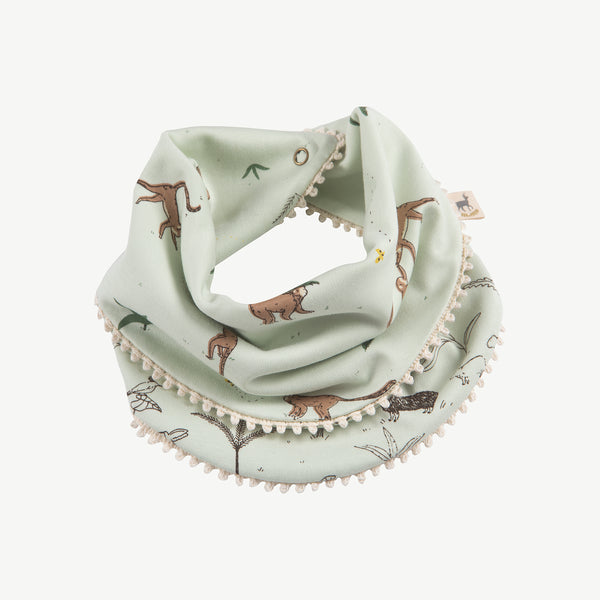 'playful monkeys' almost aqua reversible bandana