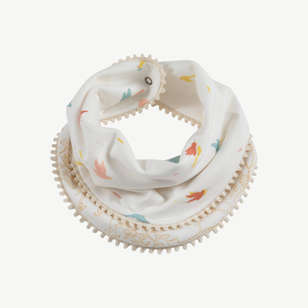 'tropical birds' eco-white reversible bandana