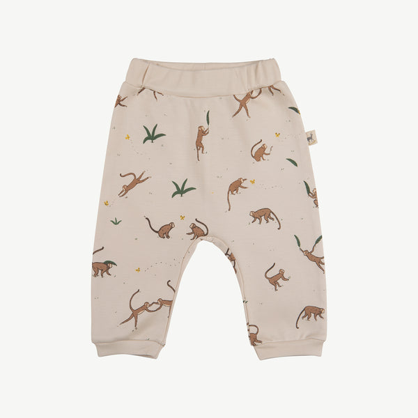 'playful monkeys' pink tint baggy pants