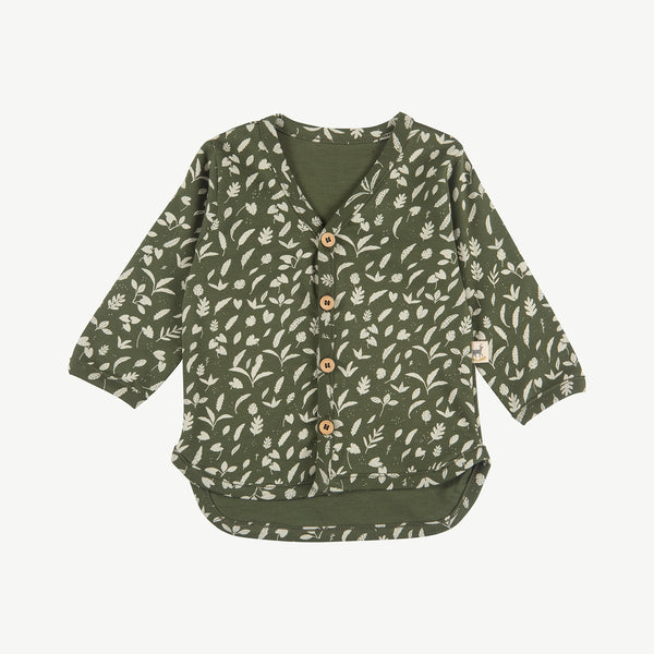 'rainforest foliage' chive cardigan