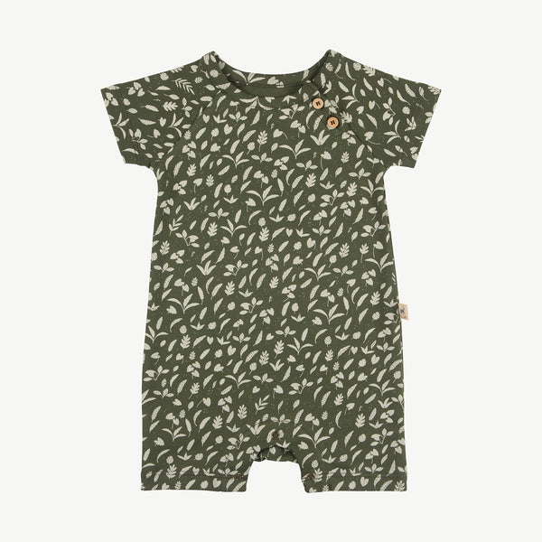 'rainforest foliage' chive jumpsuit s/s