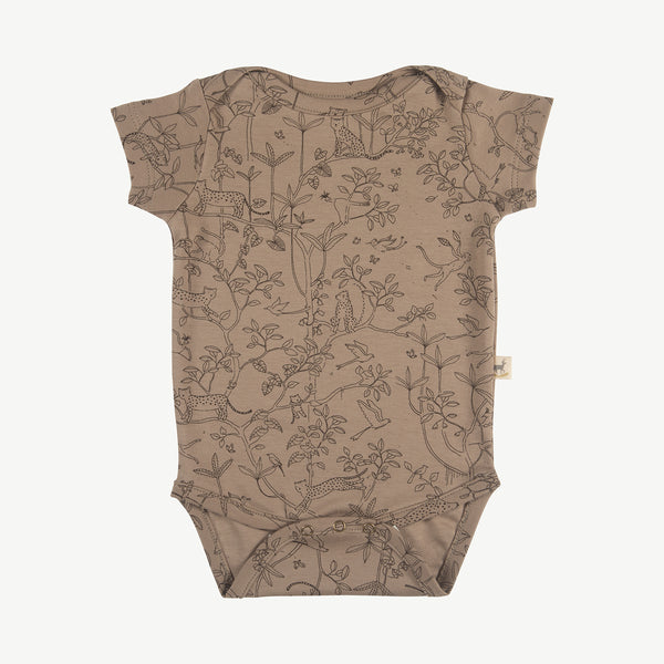 'the canopy' taupe onesie s/s