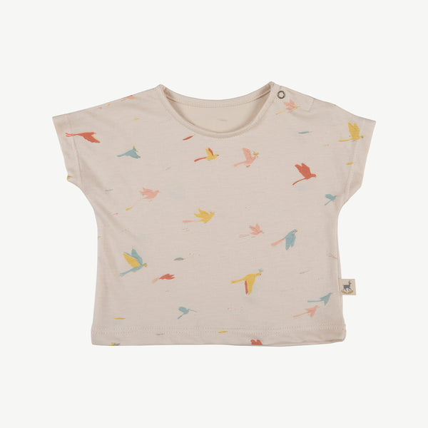 'tropical birds' pink tint t-shirt