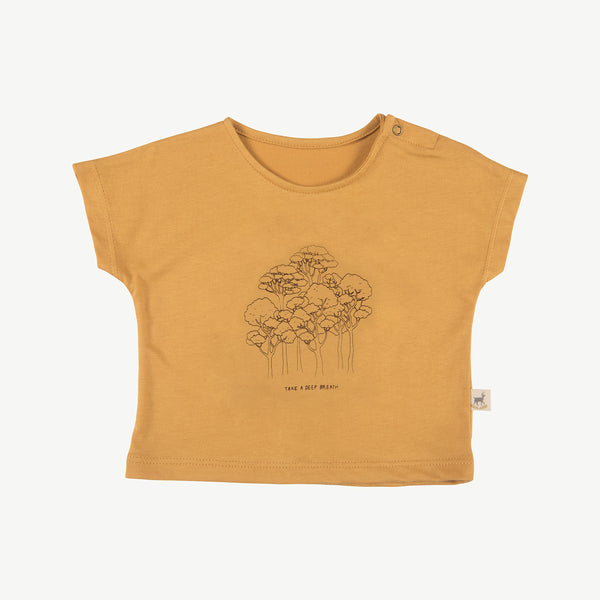 'take a deep breath' spruce yellow t-shirt