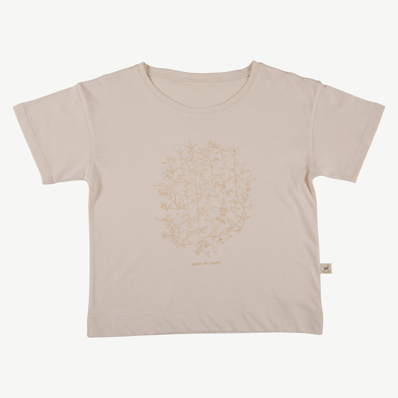 'under the canopy' pink tint t-shirt