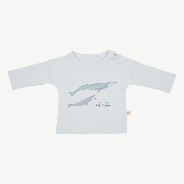 'the journey' winter sky t-shirt