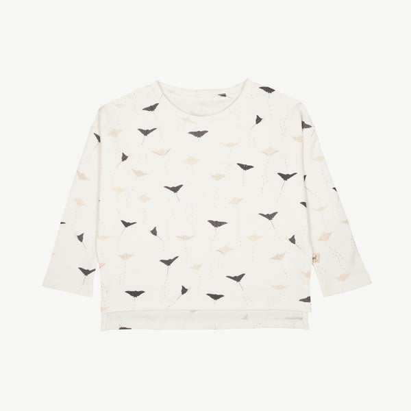 'ocean voyagers' eco white oversized t-shirt