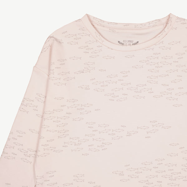 'schooling fish' heavenly pink oversized t-shirt
