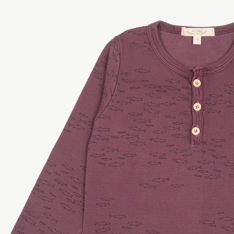'schooling fish' plum wine ribbed henley