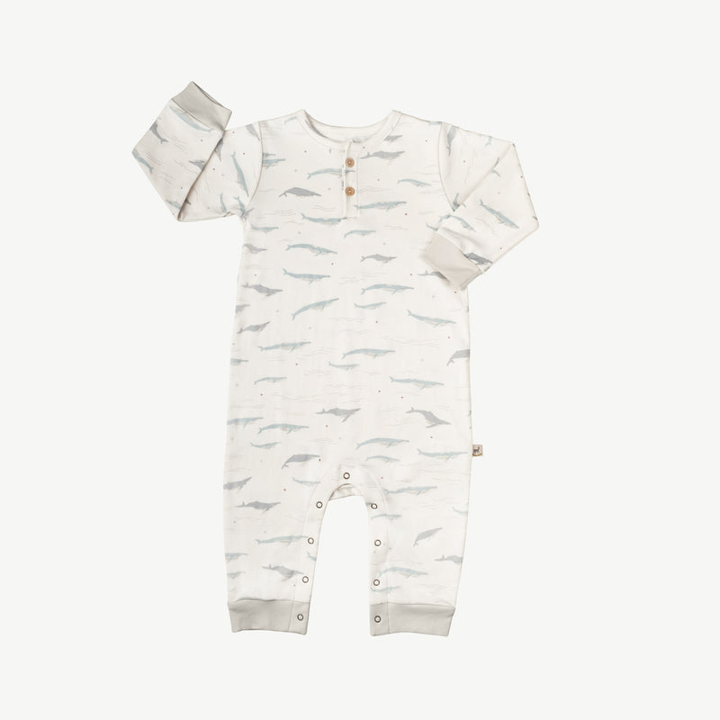 'passing whales' eco white jumpsuit