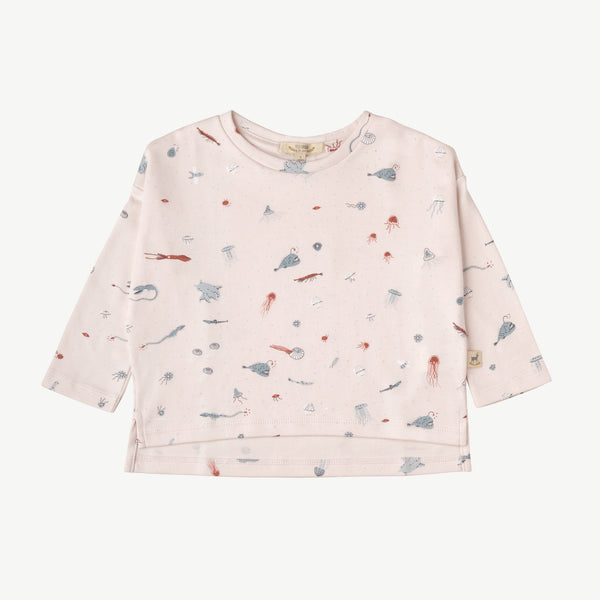 'deep findings' heavenly pink oversized t-shirt