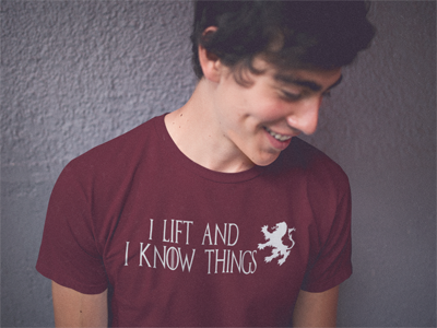 I Lift and I Know Things Crossfit Shirt