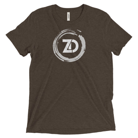 Men's Tri-blend T-shirt - Classic (white logo) - Zendorphin Design