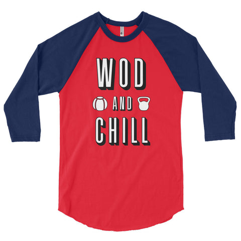 Unisex Poly-Cotton Raglan Shirt - WOD & Chill - Zendorphin Design