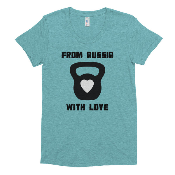 Women's Tri-blend T-shirt - From Russia with Love (black logo) - Zendorphin Design
