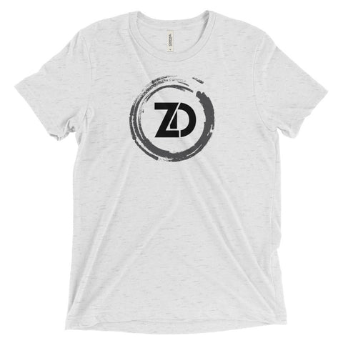 Men's Tri-blend T-shirt - Classic (black logo) - Zendorphin Design