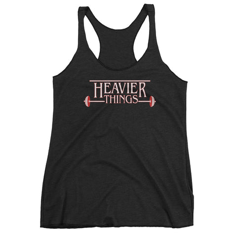 Women's Tri-blend Tank Top - Heavier Things - Zendorphin Design