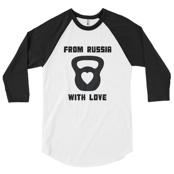 Unisex Poly-Cotton Raglan Shirt - From Russia with Love (black logo) - Zendorphin Design