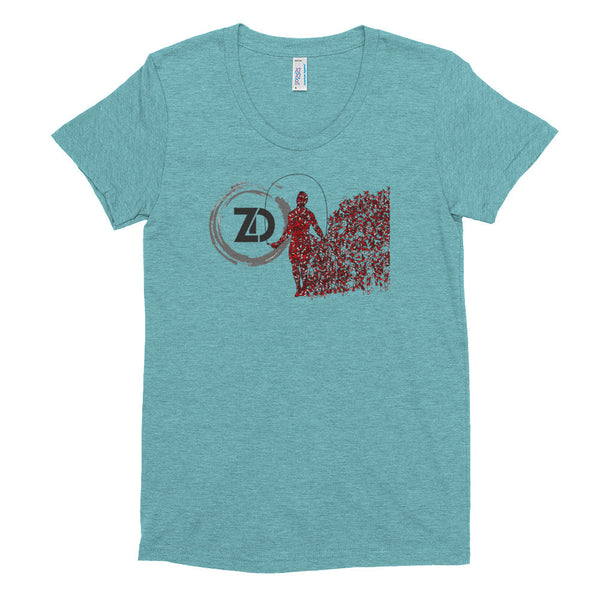 Women's Tri-blend T-shirt - Double Under - Zendorphin Design