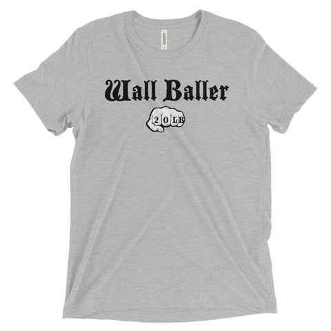 Men's Tri-blend T-shirt - Wall Baller 20 (black logo) - Zendorphin Design