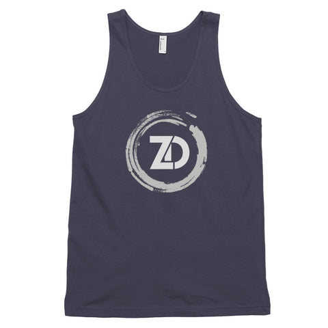 Men's Cotton Jersey Tank Top - Classic (white logo) - Zendorphin Design