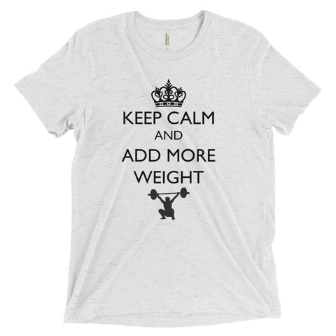 Men's Tri-blend T-shirt - Keep Calm & Add More Weight (black logo) - Zendorphin Design