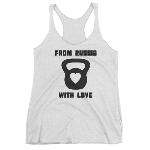 Women's Tri-blend Tank Top - From Russia with Love (black logo) - Zendorphin Design
