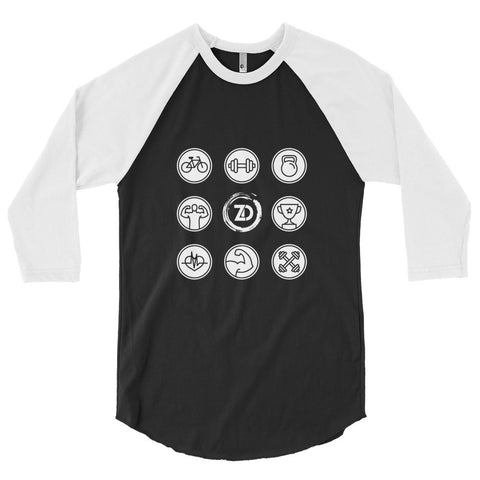 Unisex Poly-Cotton Raglan Shirt - Fitness - Zendorphin Design