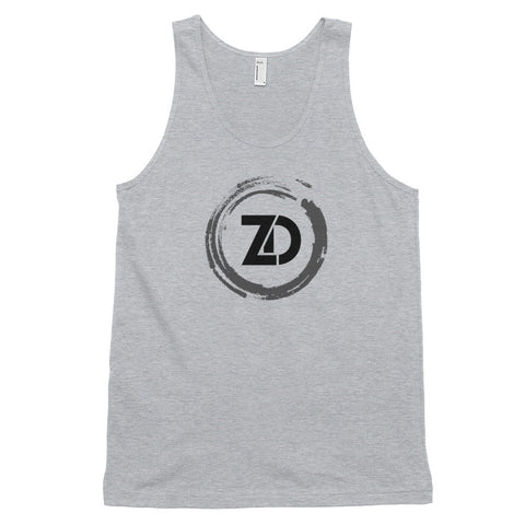 Men's Cotton Jersey Tank Top - Classic (black logo) - Zendorphin Design