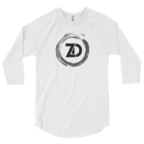 Unisex Poly-Cotton Raglan Shirt - Classic (black logo) - Zendorphin Design
