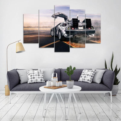 """The Delorean"" 5 Piece Deluxe Wall Art Canvas"