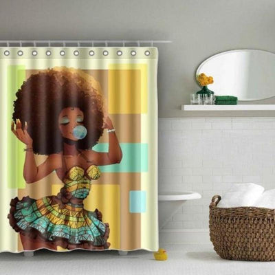 Afro Chique Deluxe Shower Curtain