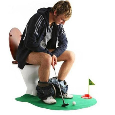 Novelty Toilet Putt Putt Mini Golf Set