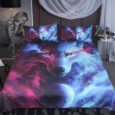 Light Meets Darkness Twilight Wolf 3 Pce Deluxe Bedding Set