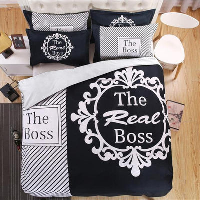 """The Real Boss"" Deluxe Bed Linen Duvet Cover Set"
