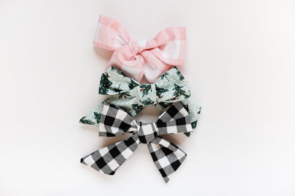 Holiday Hair Clip Bows